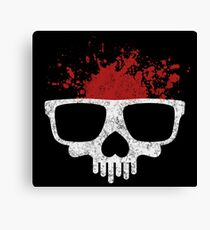 Nerdy skull for geeks Canvas Print