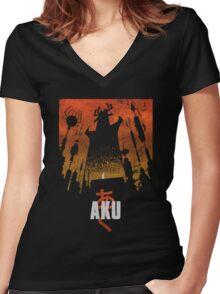 Akaiju Women's Fitted V-Neck T-Shirt