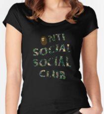 monkeys bape camo Women's Fitted Scoop T-Shirt