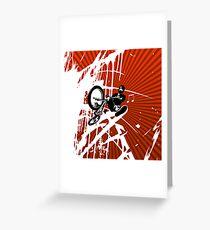 BMX Pop Art Red Greeting Card