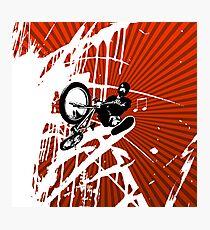 BMX Pop Art Red Photographic Print