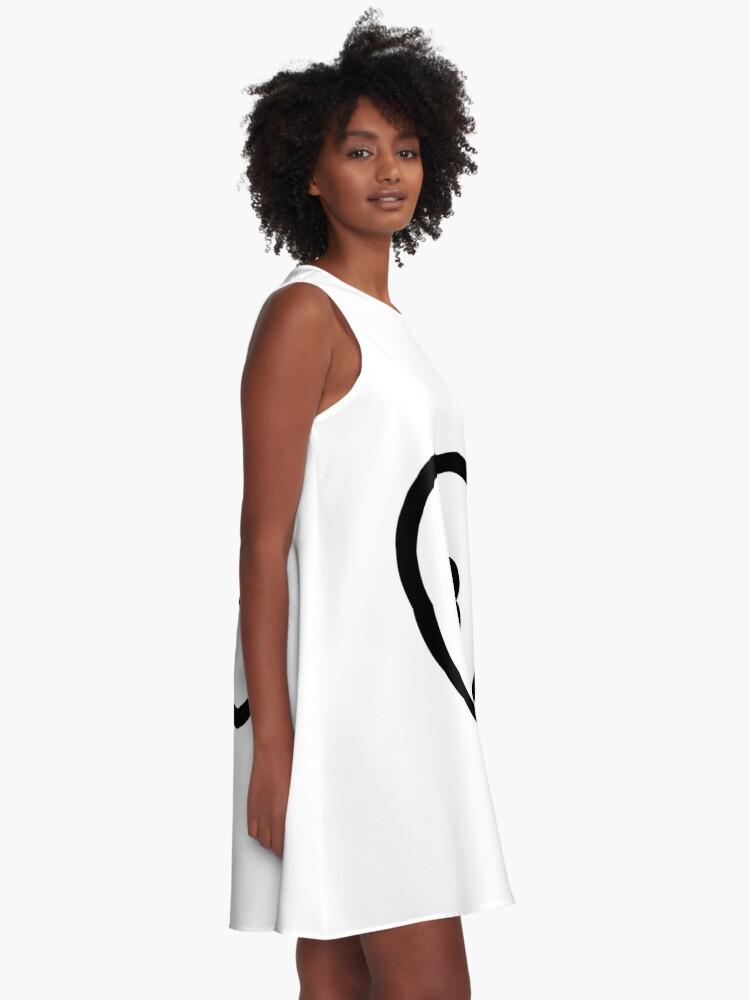 Alternate view of Circle, Modish, original, ingenious, novel, own, individual, unorthodox, refined A-Line Dress