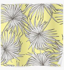 Jungle leaves pattern  Poster