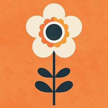 Retro Blossom - Orange and Cream by daisy-beatrice