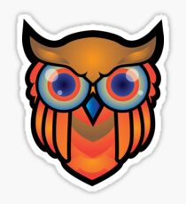 cool owls and cool design print  Sticker
