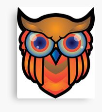 cool owls and cool design print  Canvas Print