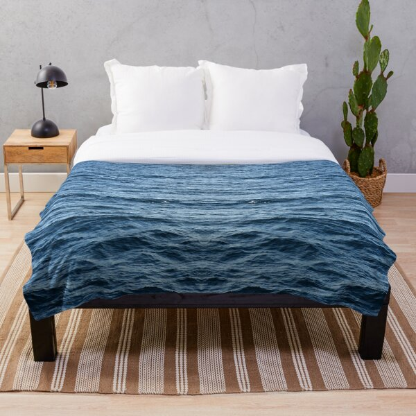 Blue sea abstract Throw Blanket