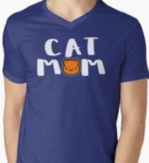 Super Cute Cat Mom Men's V-Neck T-Shirt