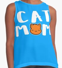Super Cute Cat Mom Contrast Tank