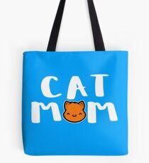 Super Cute Cat Mom Tote Bag