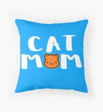 Super Cute Cat Mom Throw Pillow