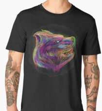 artistic and abstract wolf drawing and painting design  Men's Premium T-Shirt