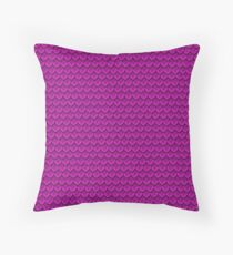 Magically Magenta Mermaid Scale Throw Pillow
