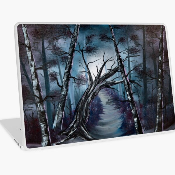 """""""The haunted forest"""" oil painting.  Laptop Skin"""