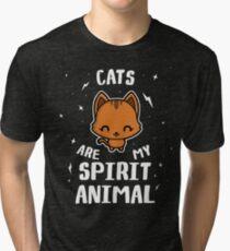 Cats Are My Spirit Animal Tri-blend T-Shirt