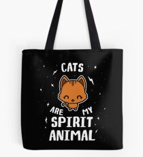 Cats Are My Spirit Animal Tote Bag