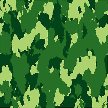 Army Camouflage Pattern – Ultra Green by poisondesign