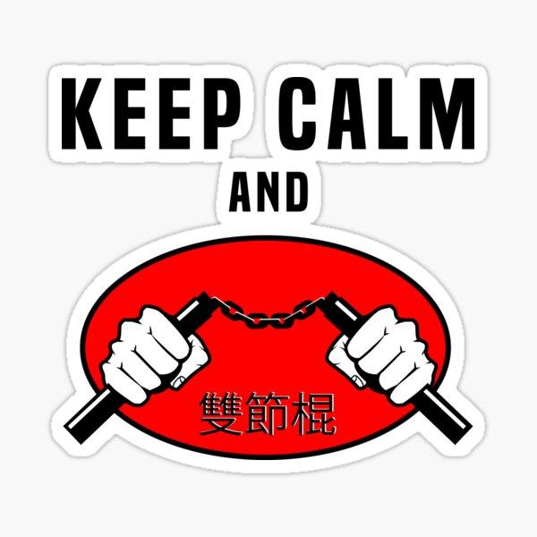 Keep Calm and Nunchaku Sticker