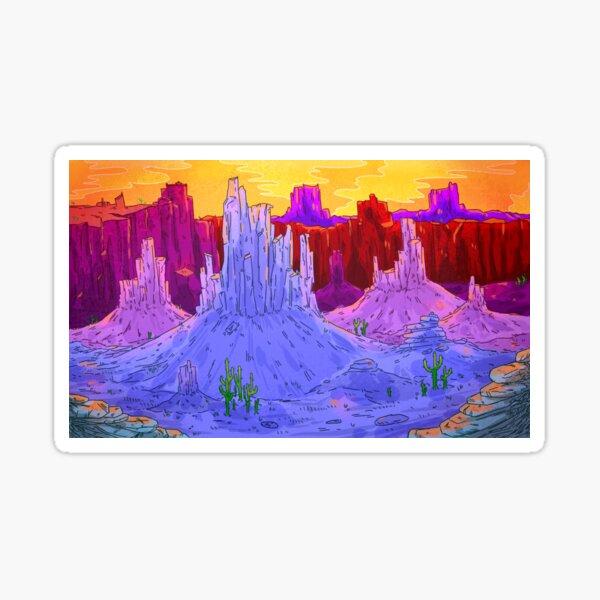 purple desert Sticker
