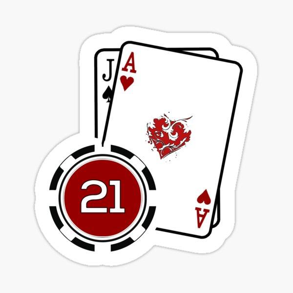 Blackjack 21 Sticker