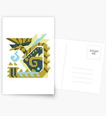 Zinogre Monster Hunter Design  Postcards