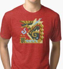 Zinogre Monster Hunter Design  Tri-blend T-Shirt