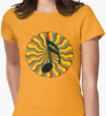 Summertime Semiquaver - 16th Note Music Symbol Women's Fitted T-Shirt