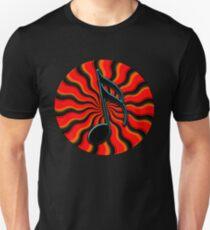 Red Hot Semiquaver - 16th Note Music Symbol Unisex T-Shirt