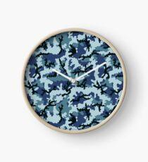Navy camouflage Clock