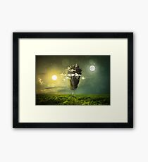 Pond Sun Moon Landscape Mysterious Clouds Nature Minds Sky Shadow Nature Sights Sun Nights Framed Print