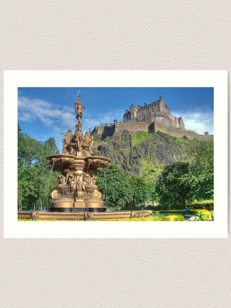 Alternate view of Edinburgh Castle , Scotland Art Print