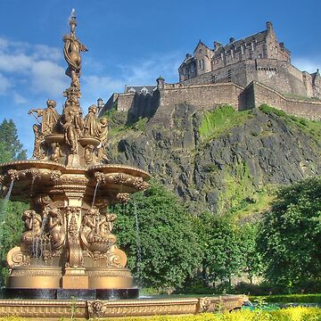 Edinburgh Castle , Scotland by goldyart