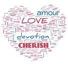 Lovers Word Cloud 1 by Cheri Sundra