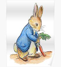 Nursery Characters, Peter Rabbit, Beatrix Potter. Poster