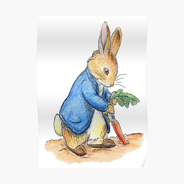 Nursery Characters, Peter Rabbit, Beatrix Potter. Poster