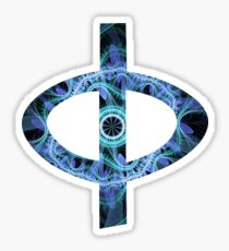 Greek Phi | Grand Julian Blue | Fractal Art Fashion Sticker