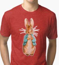 Nursery Characters, Peter Rabbit, Beatrix Potter. Tri-blend T-Shirt