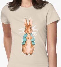 Nursery Characters, Peter Rabbit, Beatrix Potter. Women's Fitted T-Shirt
