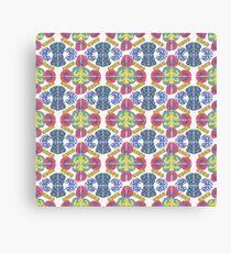 Rorschach Inspired Tile Canvas Print