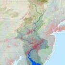 Delaware River Watershed Map - Modified Landscape by kmusser