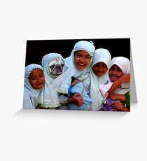 JAVANESE SCHOOLGIRLS - SURABAYA Greeting Card