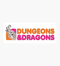 dungeons and dragons red box Photographic Print
