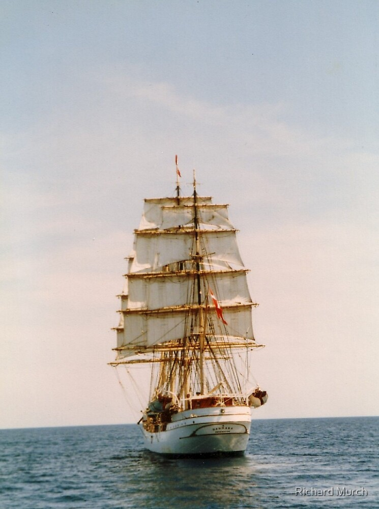 Tall Ship .. The Danmark by Richard Murch