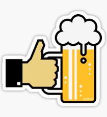 I Like Beer! (Thumb Up / Drinking Team) Sticker