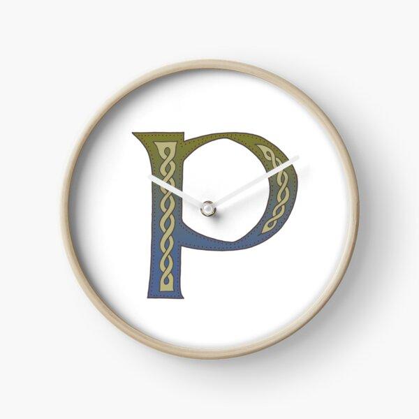 Celtic Knotwork Alphabet - Letter P Clock