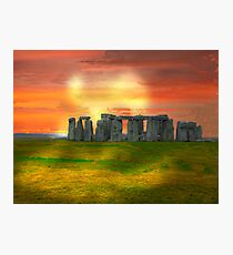 Stonehenge Strangeness Photographic Print