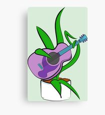 Guitar Playing Plant Canvas Print