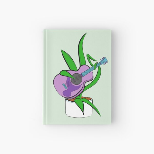 Guitar Playing Plant Hardcover Journal
