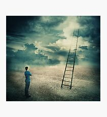 ladder to unknown Photographic Print