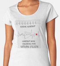Heartbeat when fangirling over Nathan Fillion Women's Premium T-Shirt